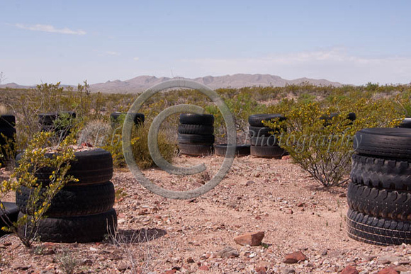 Open desert, Tirehenge 2